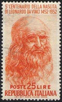 5° Centenario della nascita di Leonardo da Vinci - autoritratto
