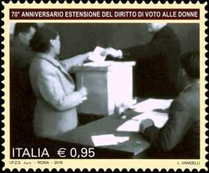 70° anniversario dell'estensione del diritto di voto alle donne
