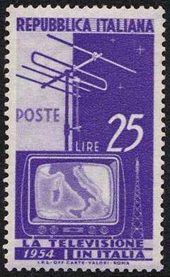 Inizio del servizio di televisione nazionale - L. 25