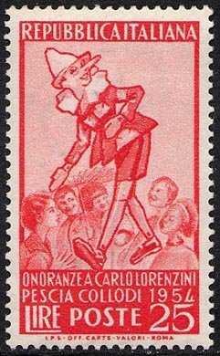 Onoranze a Carlo Lorenzini ( Collodi ) - L. 25