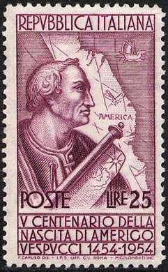 5° Centenario della nascita di Amerigo Vespucci - L. 25