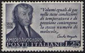 Centenario della morte del fisico Amedeo Avogadro - L. 25
