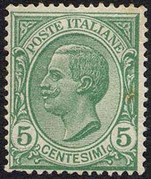 1906 - Effige di Vittorio Emanuele III - volta a sinistra