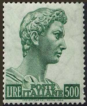"""""""San Giorgio"""" di Donatello - Alti valori - L. 500"""