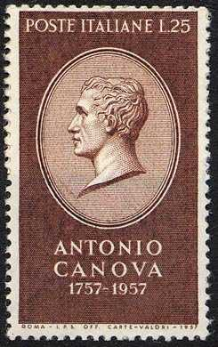 Bicentenario della nascita di Antonio Canova - effige dello scultore