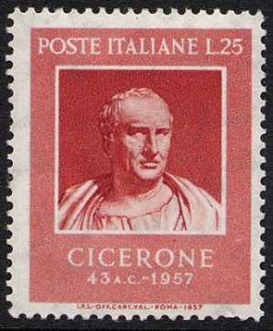 Bimillenario della morte di Marco Tullio Cicerone - busto del Museo Capitolino