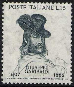 150° della nascita e 75° della morte di Giuseppe Garibaldi - ritratto