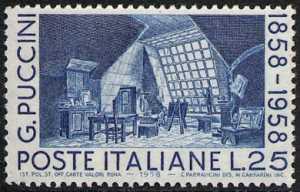 Centenario della nascita di Giacomo Puccini - L. 25