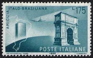 Amicizia italo-brasiliana . Visita del Presidente Gronchi in Brasile