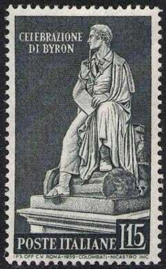 Inaugurazione di un monumento a George Gordon Byron - statua del poeta