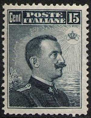 1909 -  Effige di Vittorio Emanuele III - volta a destra- tipo del 1906 modificato