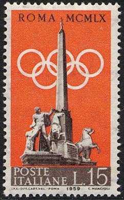 Preolimpica - Olimpiadi di Roma del 1960 - Fontana dei Dioscuri