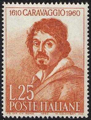 """350° Anniversario della morte di Michelangelo Merisi detto """"il Caravaggio"""" - ritratto del pittore"""