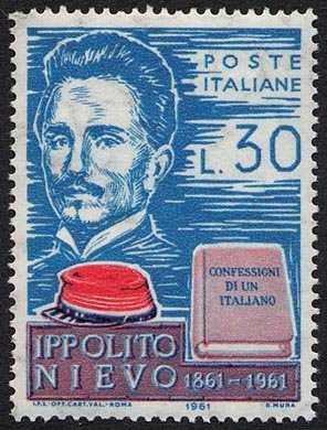 Centenario della morte di Ippolito Nievo - ritratto dello scrittore