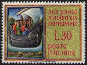 19° Centenario dell'arrivo di San Paolo a Roma - miniatura della Bibbia
