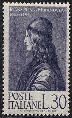 5° Centenario della nascita di Giovanni Pico della Mirandola, umanista e filosofo - L. 30