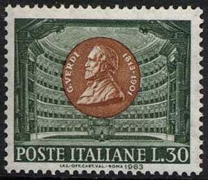 Centocinquantesimo Anniversario della nascita di Giuseppe Verdi - il musicista ed il Teatro alla Scala di Milano