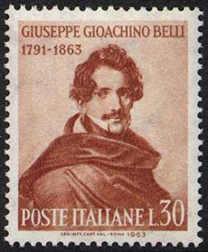 Centenario della morte del poeta Gioacchino Belli - ritratto di Paris