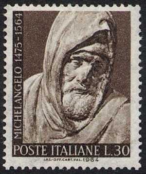 4° Centenario della morte di Michelangelo Buonarroti - autoritratto