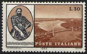 Inaugurazione del ponte 'Giovanni da Verrazzano' a New York - L. 30