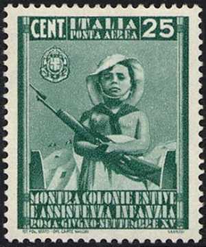 Posta aerea - Mostra delle Colonie Estive e assistenza all'infanzia