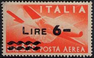 Posta aerea - Serie ordinaria «Democratica » - tipo precedente sovrastampato con nuovo valore