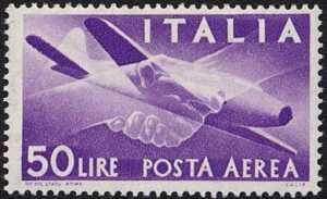 Posta aerea - «Democratica» - tipo del 1947 con filigrana Stelle
