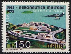 Posta aerea - Cinquantenario dell'Aeronautica Militare - Accademia di Pozzuoli