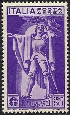 Posta aerea - 4º Centenario della morte di Francesco Ferrucci - statua