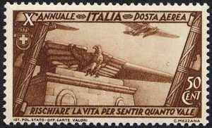 Posta aerea - Decennale della Marcia su Roma