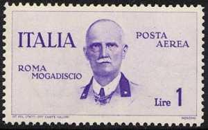 Posta Aerea - Volo Roma-Mogadiscio - Vittorio Emanuele III