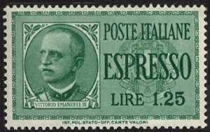1932 - Espressi - Effige di Vittorio Emanuele III - nuovo tipo