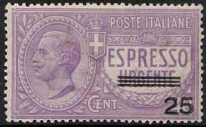 1917 - Espresso  urgente - soprastampato - non emesso