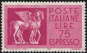 1958 - Repubblica - Espressi - Nuovo tipo «Cavalli Alati»
