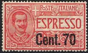1924 - Espressi - tipi del 1922 soprastampati