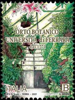 2021 - Patrimonio naturale e paesaggistico : Orto Botanico dell'Università di Ferrara - 250° Anniversario della fondazione