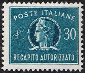 1965 - Recapito autorizzato - Repubblica - «Italia turrita» - nuovi valori