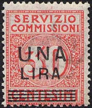 1925 - SERVIZIO COMMISSIONI - Regno - francobolli del 1913 soprastampati