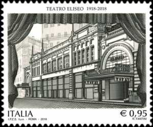 Patrimonio artistico e culturale italiano - Teatro Eliseo di Roma - Centenario della inaugurazione