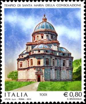 Patrimonio artistico e culturale italiano :  Tempio di Santa Maria della Consolazione - Todi
