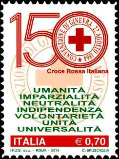 150° Anniversario della istituzione della Croce Rossa Italiana
