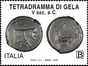 Patrimonio artistico e culturale  italiano : Tetradramma di Gela
