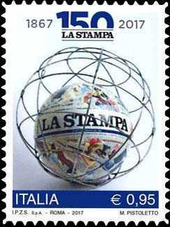 """150° Anniversario della fondazione del quotidiano """" La Stampa"""""""