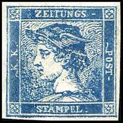 1851 - Francobolli per giornali - Testa di Mercurio