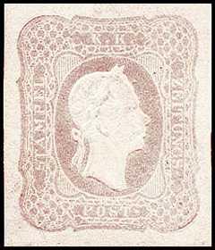 1865 - Francobolli per giornali - Effige di Francesco Giuseppe rivolta a destra