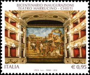 Patrimonio artistico e culturale italiano :  Teatro Marrucino di Chieti - Bicentenario della inaugurazione