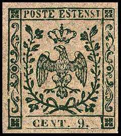 1855 - tipi del 1853 senza le lettere «B. G.»