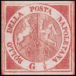 1858 - Stemma delle Due Sicilie in riquadri diversi