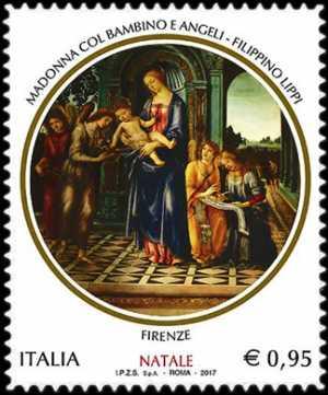 Il Santo Natale - Madonna col Bambino e Angeli di Filippino Lippi