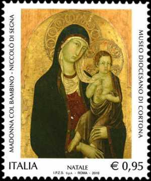 Il Santo Natale - «Madonna col Bambino» di Niccolò di Segna - Museo Diocesano di Cortona